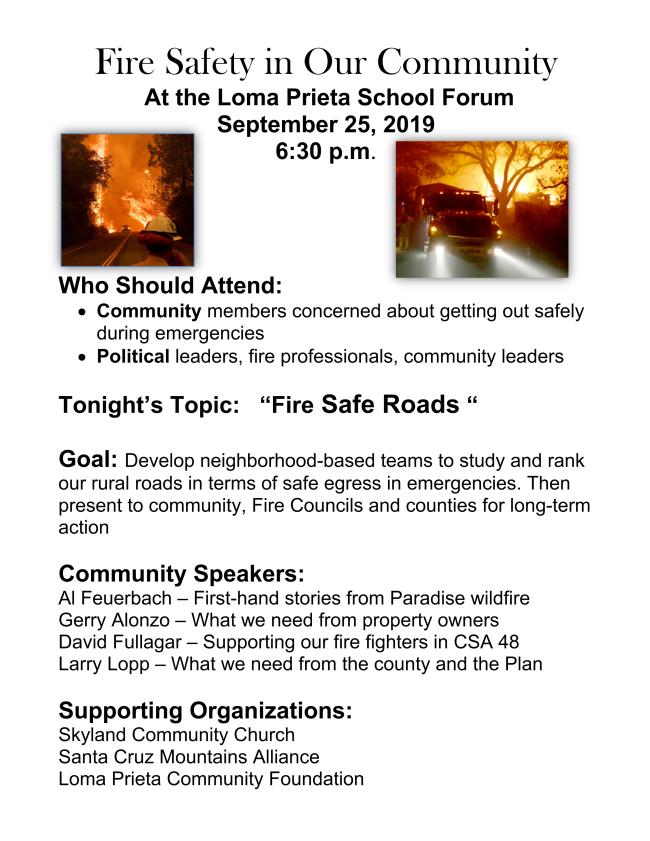 2019 Sep 25: Fire Safety Meeting